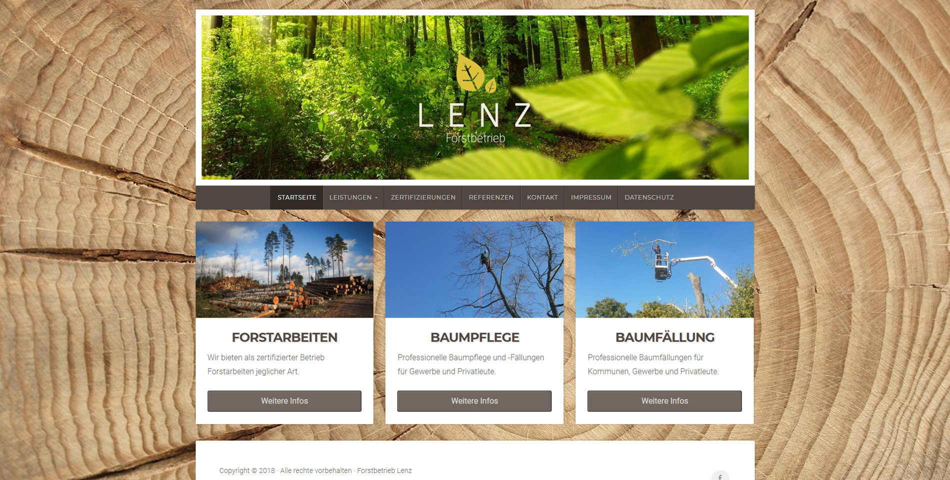 Website Forstbetrieb Lenz