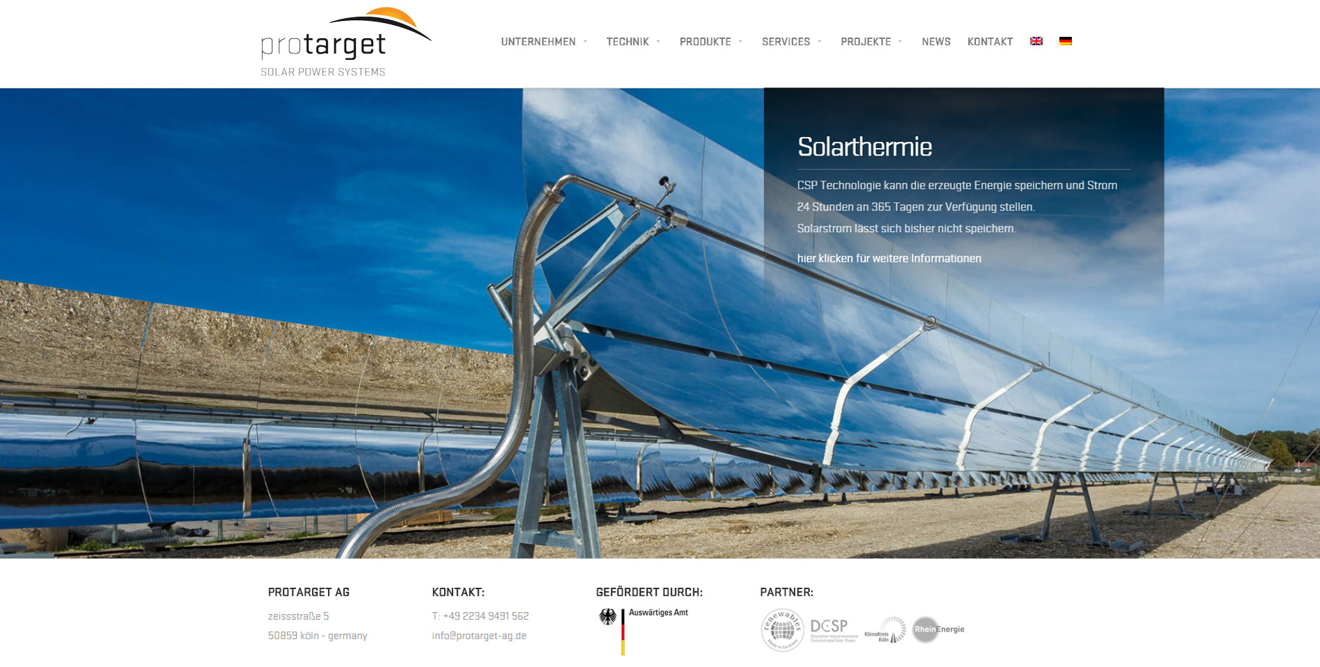 Website Protarget AG