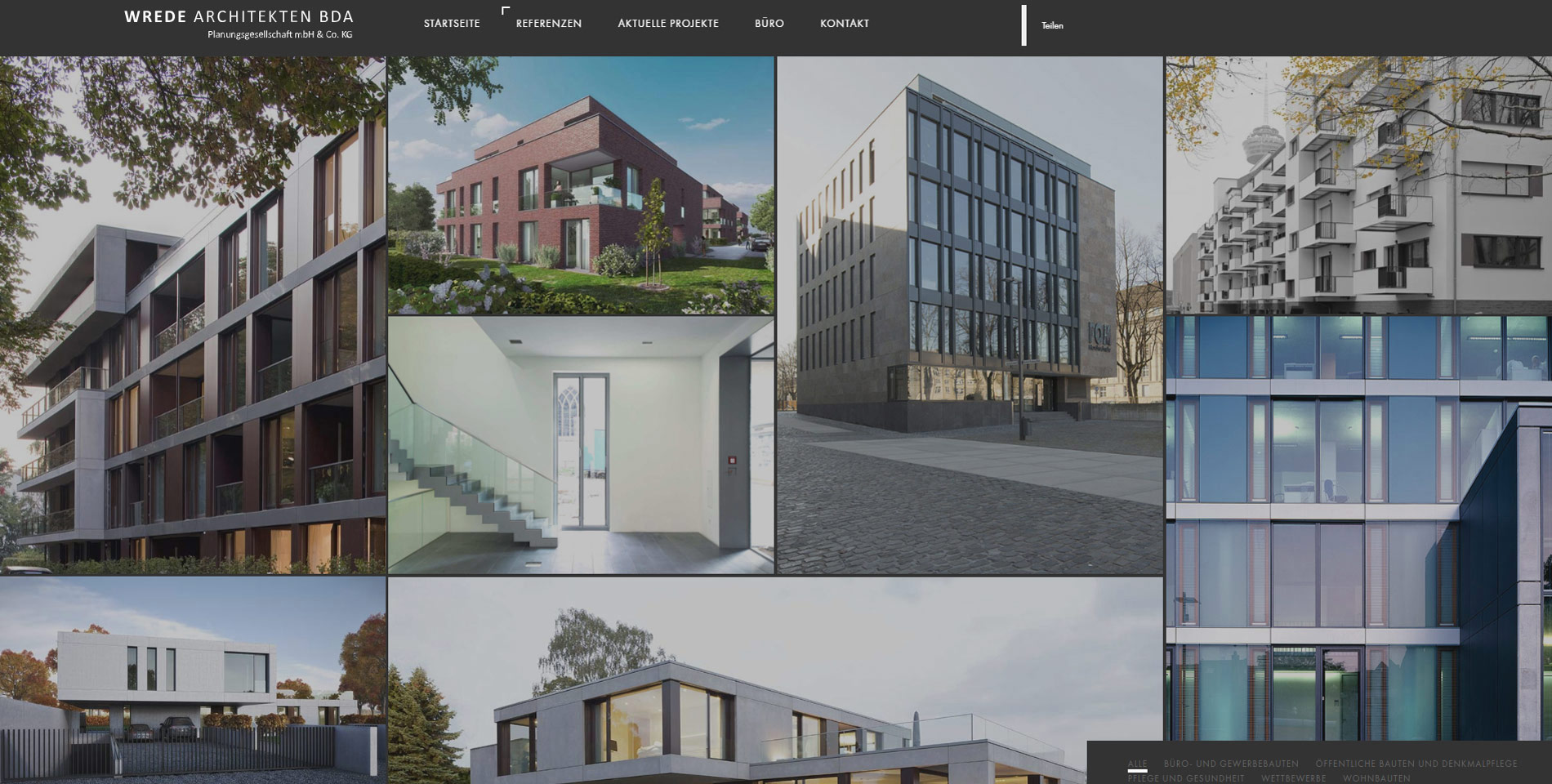 Website Wrede Architekten