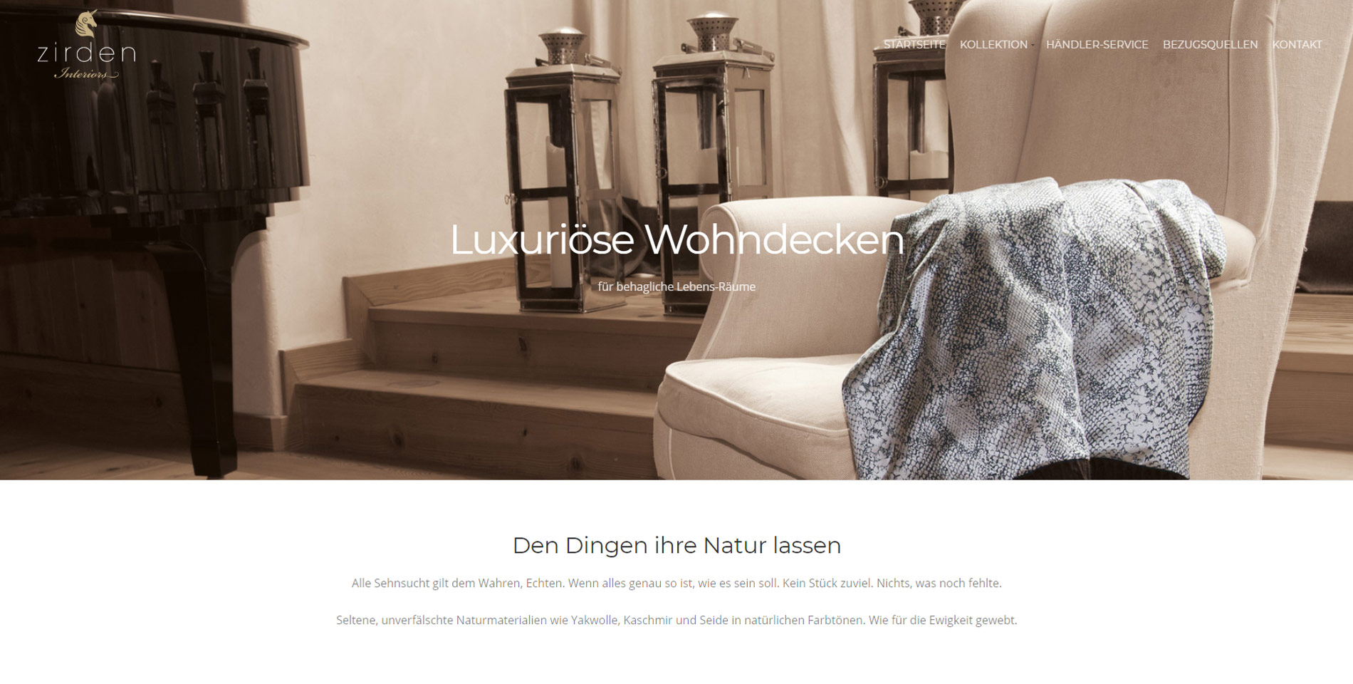 Website Zirden Interiours