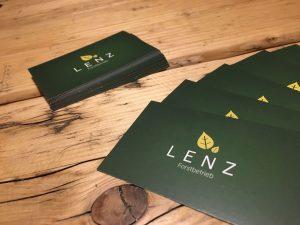Visitenkarten Lenz Forstbetrieb